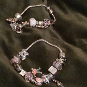 "Two 8"" Charm Bracelets"